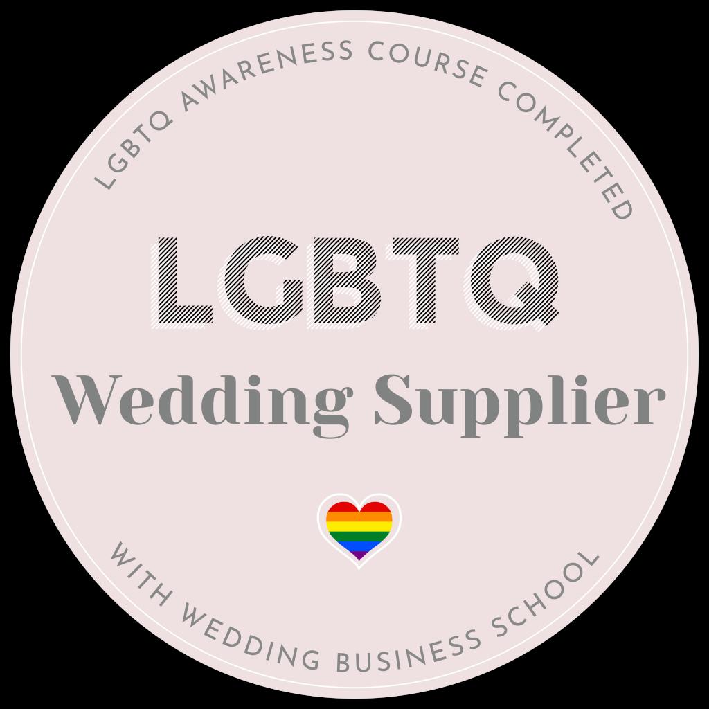 Logo showing LGBTQ friendly wedding supplier